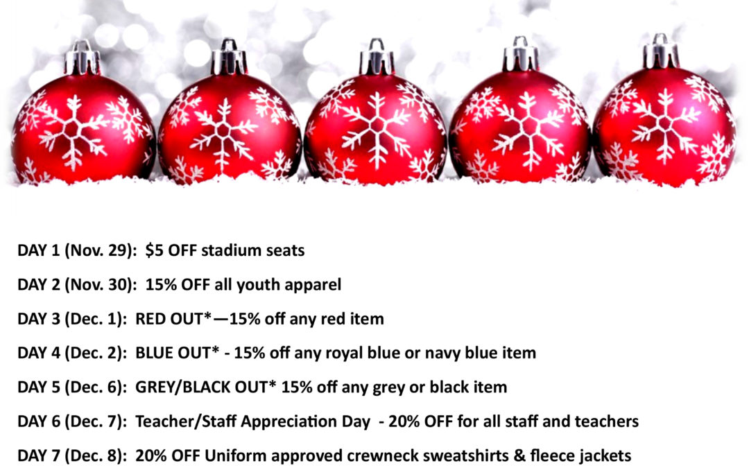 12 Days of Christmas Sale in the Armory!