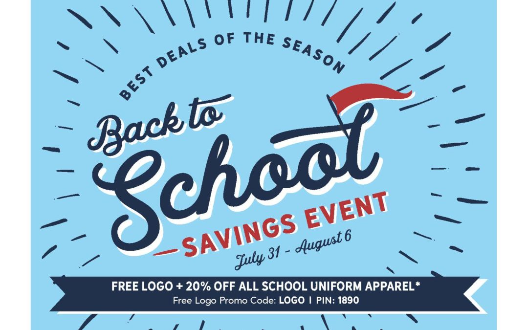 Lands' End Back to School Savings Event, July 31 – August 6