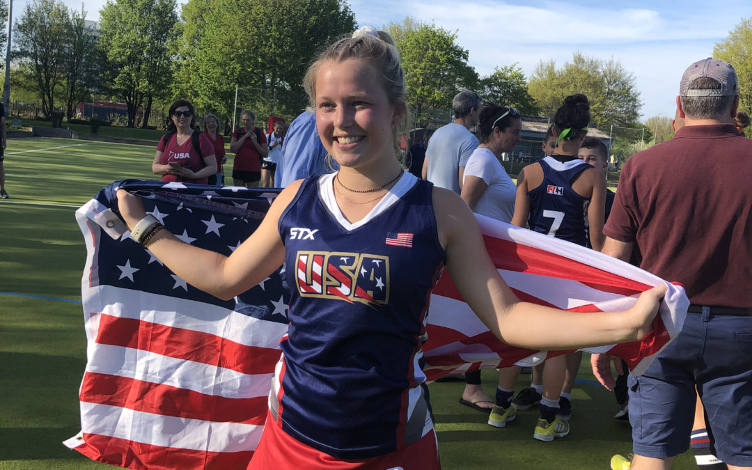CAL Sophomore Claudia Thomas Plays on USA Field Hockey Team in Germany