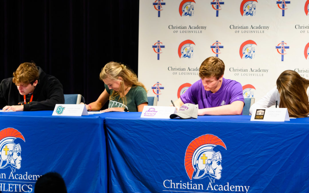 Four CAL Athletes Sign Letters of Intent to Play at Collegiate Level