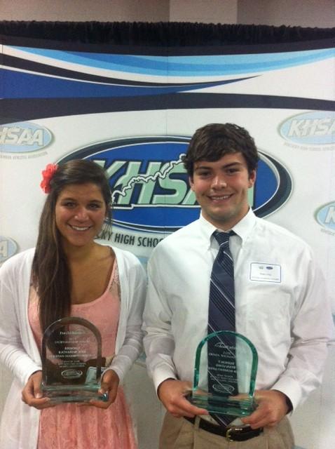 Seniors Kate Joss & Ryan Long Win 7th Region KHSAA Sportsmanship Award