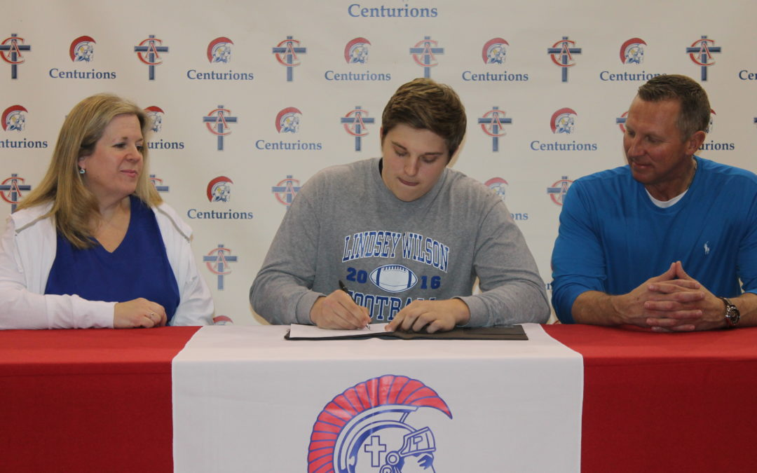 Scotty Krantz Signs to Play Football at Lindsey Wilson College