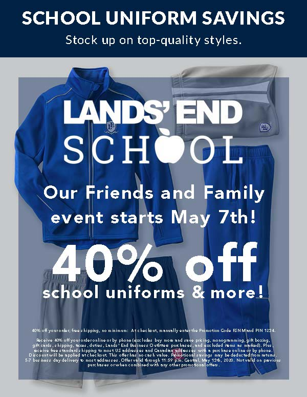 Christian Academy School System | Lands' End School Friends and Family Event | May 2020