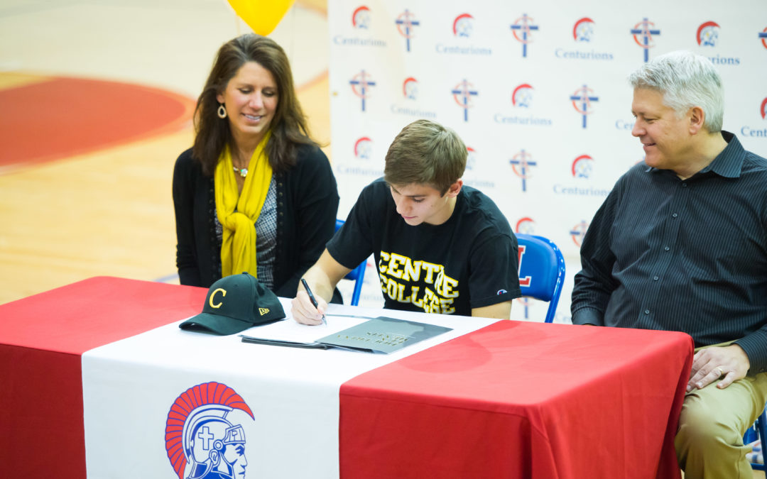 Cal Lewellyn Signs to Play Football at Centre College