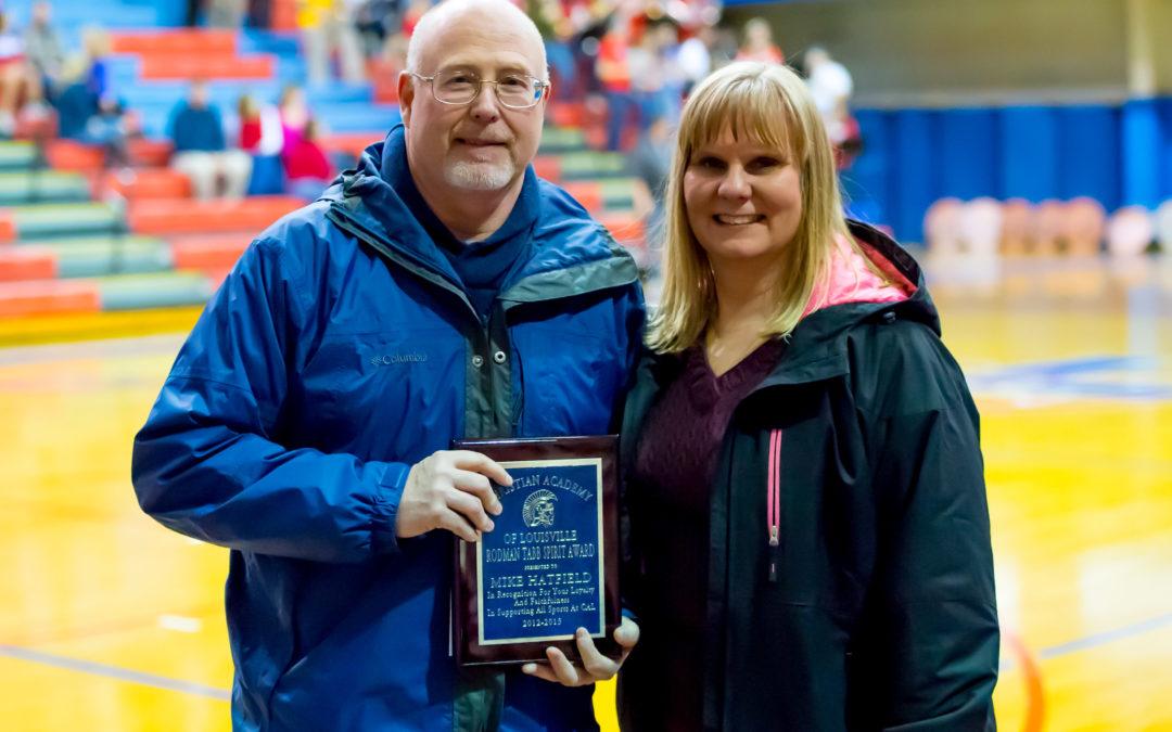 Mike Hatfield Receives Rodman Tabb Spirit Award
