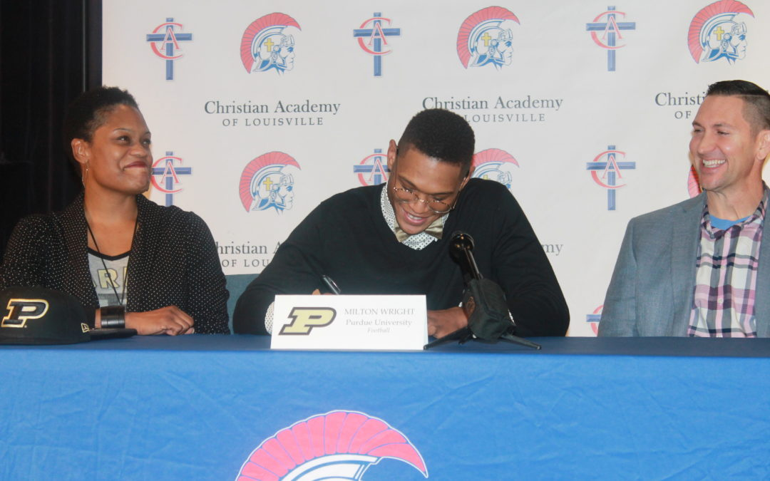 Milton Wright Signs to Play at Purdue University