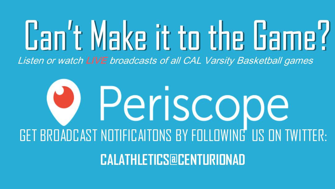 Listen & Watch CAL Varsity Basketball Games LIVE!