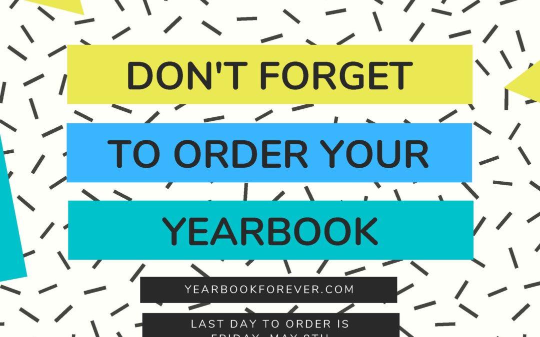 Yearbook Orders End this Week!