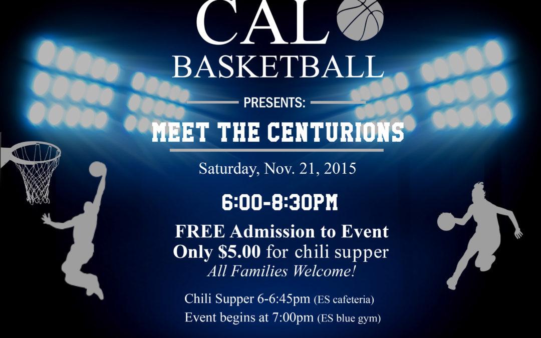 """CAL Basketball to Host """"Meet the Centurions""""!"""