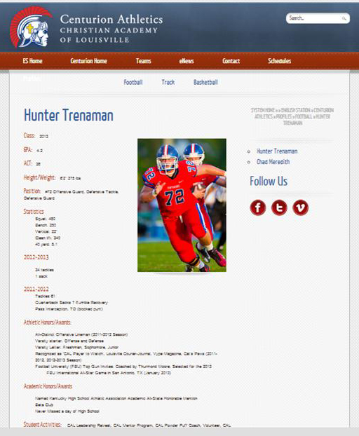 Athlete Profiles Now Online