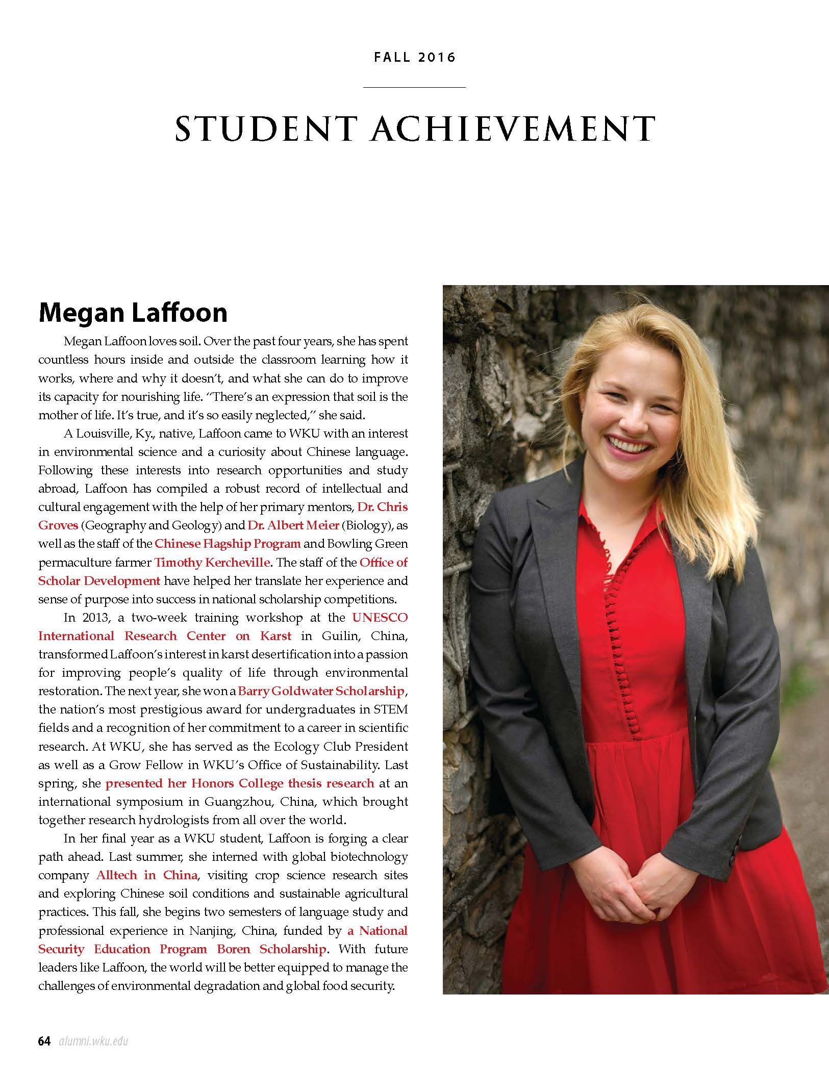 Christian Academy School System | Christian Academy of Louisville | Alumni in the News | Megan Laffoon